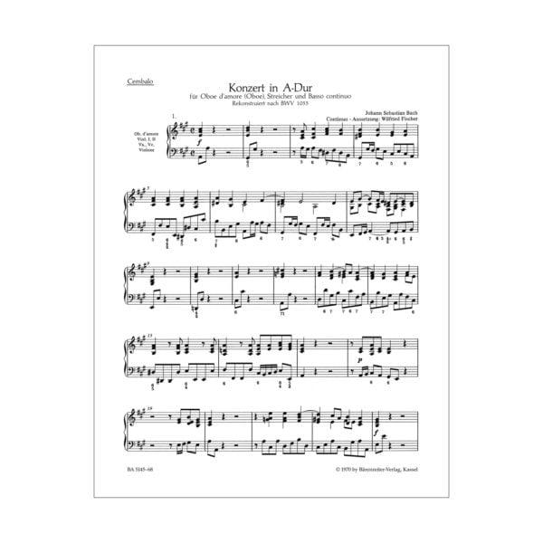 Concerto for Oboe d'amore | Cembalo/Basso continuo