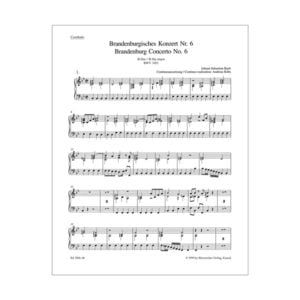 Brandenburg Concerto No. 6 | Cembalo/Basso continuo