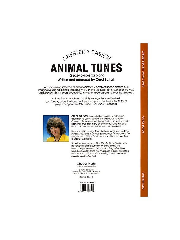 Chester's Easiest Animal Tunes - Back