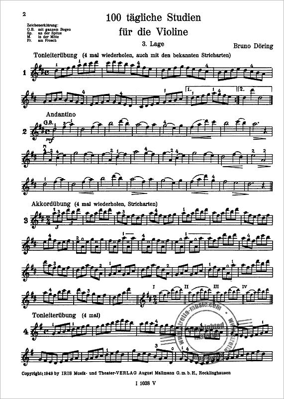 100 tägliche Studien für Violine 2