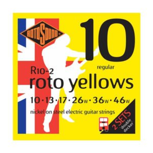 Rotosound R10-2 Roto Yellows Double Decker | 10-46 (2-p)