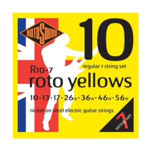 Rotosound R10-7 Roto Yellows 7-str | Regular 10-56