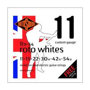 Rotosound R11-54 Roto Whites | Custom 11-54