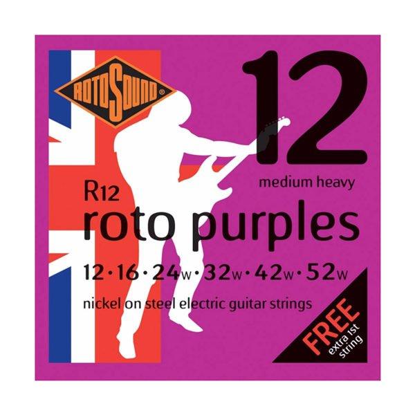 Rotosound R12 Roto Purples | Medium Heavy 12-52
