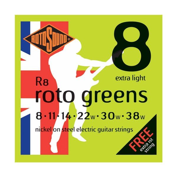 Rotosound R8 Roto Greens | Extra Light 8-38