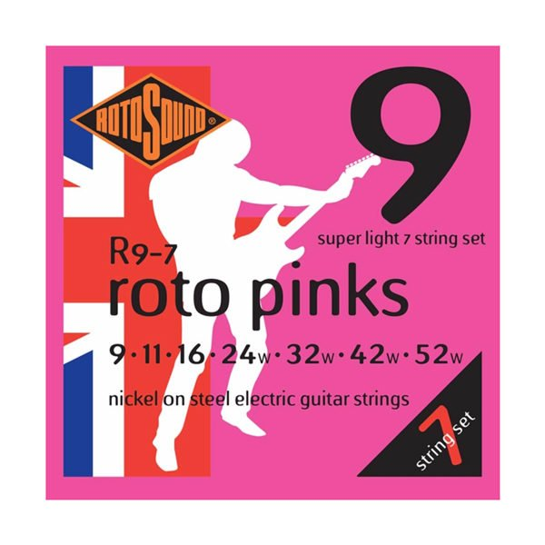 Rotosound R9-7 Roto Pinks 7-str | Super Light 9-52