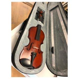 1/4 violin med spricka i locket