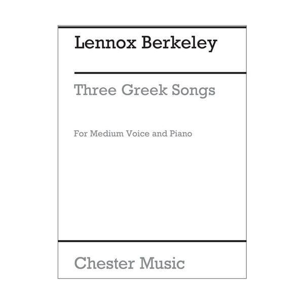 Three Greek Songs | Op.38