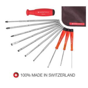 PB Swiss Tools | Set med skruvmejslar för pianon